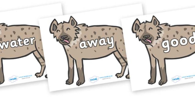 Next 200 Common Words on Hyenas - Next 200 Common Words on  - DfES Letters and Sounds, Letters and Sounds, Letters and sounds words, Common words, 200 common words