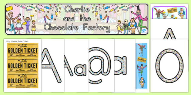 Display Pack to Support Teaching on Charlie and the Chocolate Factory - australia, chocolate