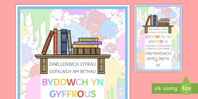 Darllenwch lyfrau gofalwch am bethau byddwch yn gyffrous peidiwch a digaloni gyda'ch hun. Mwynhewch gwyb daeth