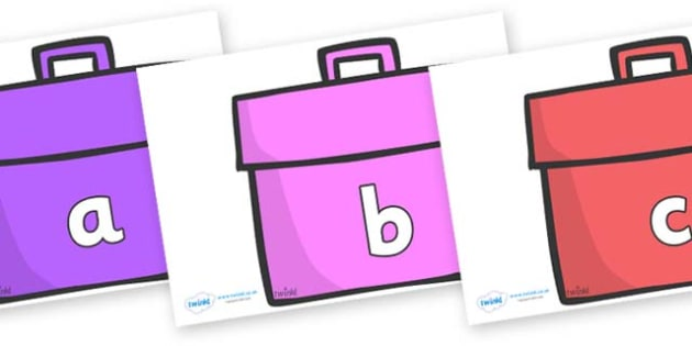 Phase 2 Phonemes on Book Bags - Phonemes, phoneme, Phase 2, Phase two, Foundation, Literacy, Letters and Sounds, DfES, display