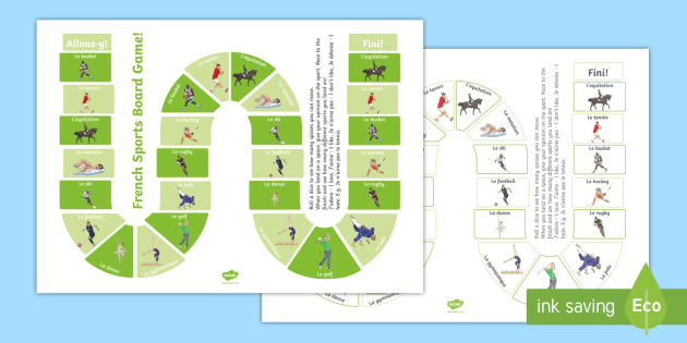 Sports Board Game French - French Games, French board games, French sports, French preferences, French group games.,Scottish-tr