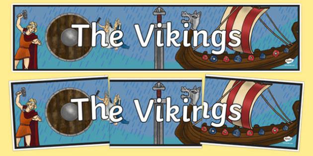 The Vikings Display Banner - vikings, display, banner, header