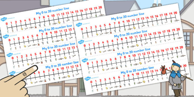 Dick Whittington Number Lines 0 20 - count, counting, maths