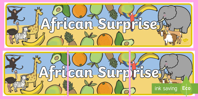 African Surprise Display Banners - banner, displays, poster