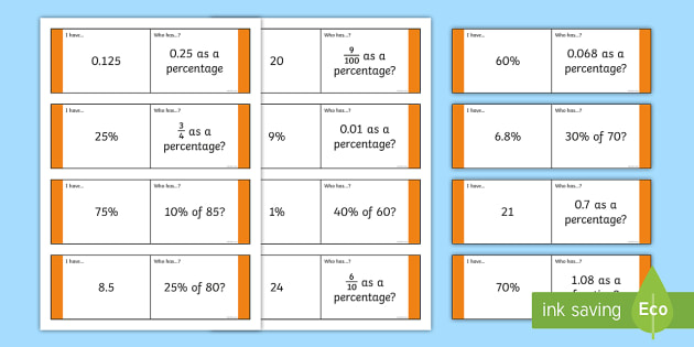 Fractions Decimals and Percentages Loop Cards (Year 6) - fractions decimals and percentages, percentages, fraction, fractions, year 6, year six, loop card, cards, flashcards, loop, image, decimal, percentage, one whole, half, third, quarter, fifth, p