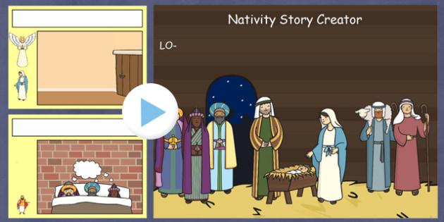 Nativity Story Creator IWB - nativity, christmas, story, xmas, create