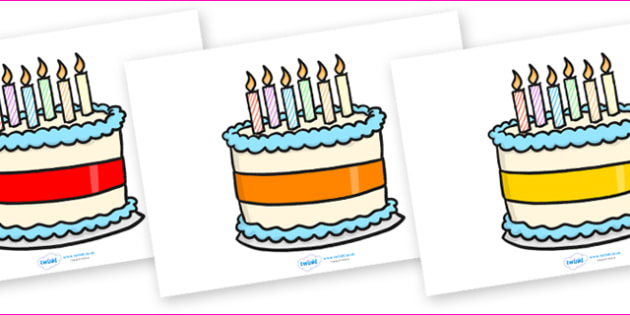 Editable Birthday Cakes (6 Candles) - Birthday, cake, editable, candles, birthday poster, birthday display, months of the year, cake, balloons, happy birthday