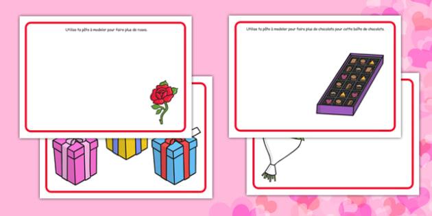 Valentine's Day Playdough Mats French - french, valentines day, fine motor skills