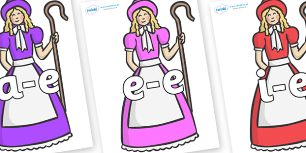 Modifying E Letters on Little Bo Peep - Modifying E, letters, modify, Phase 5, Phase five, alternative spellings for phonemes, DfES letters and Sounds