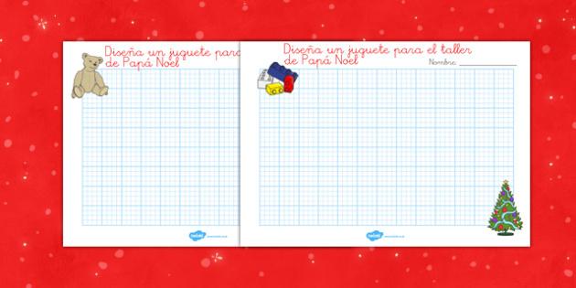Ficha de diseñar juguetes de Navidad- juegos, regalos, navidades, reyes