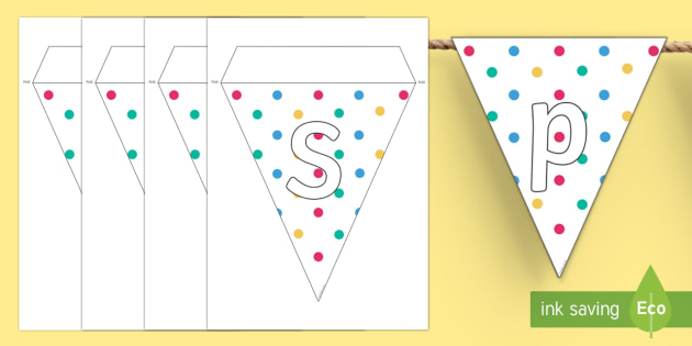 Spotty Themed Party Display Bunting