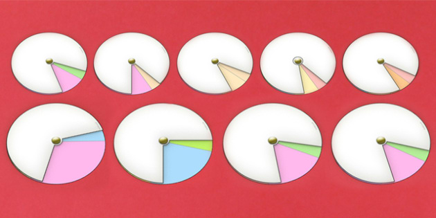 Interactive Notebook Spinner Pack - DT, paper craft, visual aid