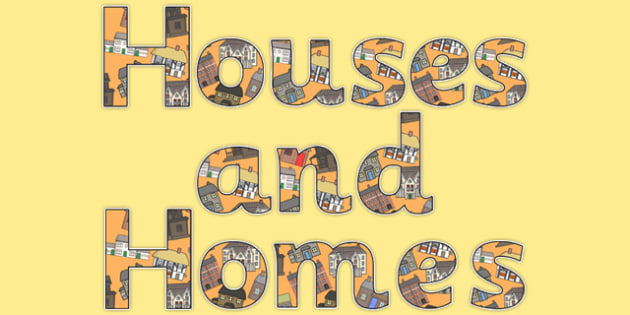 Houses and Homes Display Lettering - houses and homes, houses lettering, homes lettering, display lettering, lettering, display lettering, display letters