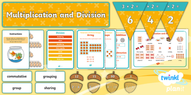 PlanIt Y2 Multiplication and Division Display Pack - multiplication and division, display, maths display, maths concepts, operations, posters, poster