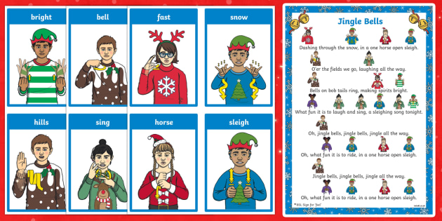 BSL Jingle Bells Song Sheet Song