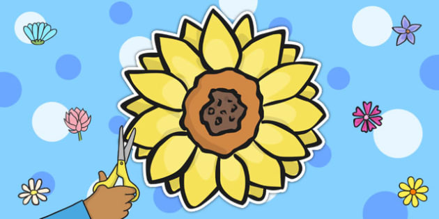 Sunflower Display Cut Out - sunflower, displays, cut out, display