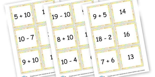 Addition/Subtraction Cards - Calculation Primary Resources, maths, add, subtract, calculation