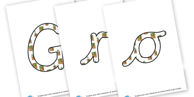 Growth - Display Lettering - Display, Gardening Clubs, Extra Curricular, Primary Resources
