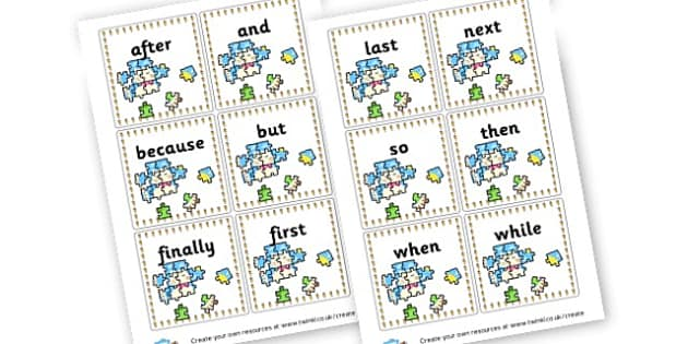 Connective Word Cards - Connectives Primary Resources, cll, connective, joining word, join