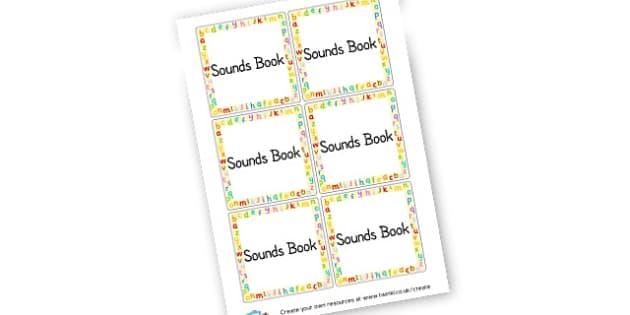 Sounds Book Labels - Book Labels Primary Resources - pupil, folder labels, book covers