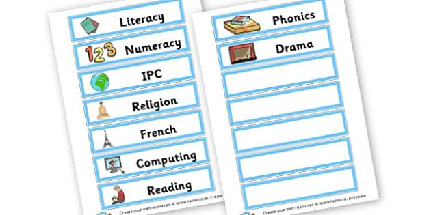 Subjects - Classroom Signs & Label Primary Resources, labels, posters, rules