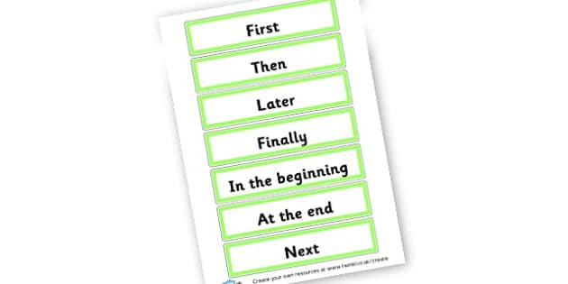 Time Sentence Starters Word Cards - Display Sentence Starters Primary Resources, Display, Letters
