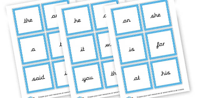 High Frequency Words Flashcards - High Frequency Words Visual Aids Primary Resources, letters