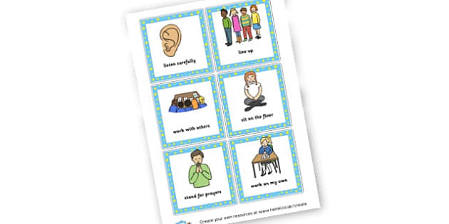 Behaviour Visuals - Rules & Behaviour Primary Resources, golden time, routines, reward