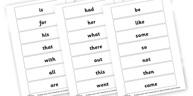 KS1 High Frequency Words Cards - High Frequency Words Visual Aids Primary Resources, letters, frquency