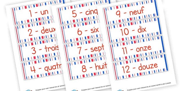 French Numbers Labels - French Numbers Primary Resources, French,Display,Languages,Numbers