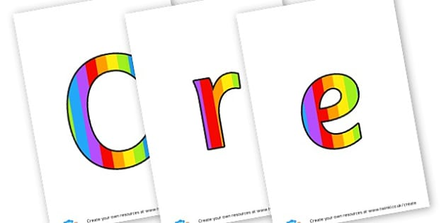 Creative Area Lettering - Creative Area Primary Resources, sign, area, zones, banner, poster