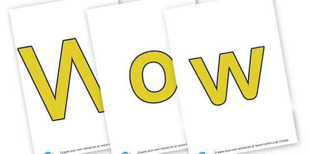 word - display lettering - Wow Words & Adjectives Primary Resources, cll, wow, keywords