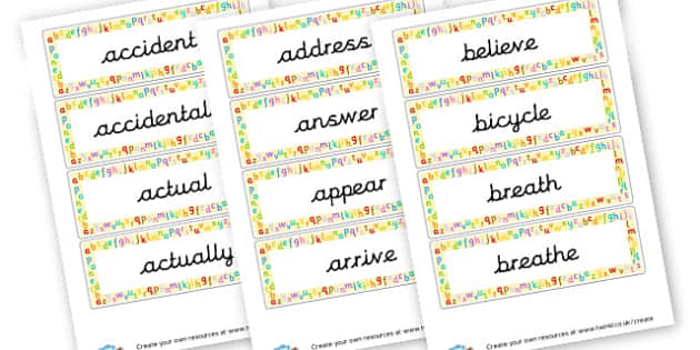 Year 3 and 4 Spelling List - KS2 Spelling Primary Resources, Spelling, KS2 Spelling, KS2