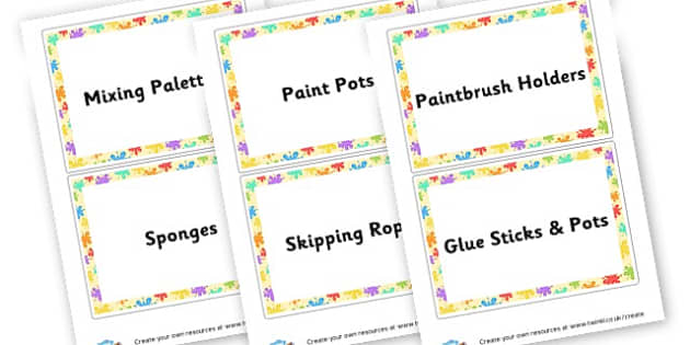 Art Labels - Creative Area Primary Resources, sign, area, zones, banner, poster