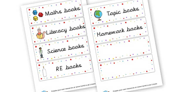 Book Labels - Book Labels Primary Resources - pupil, folder labels, book covers