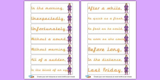 Fronted Adverbials Openers - KS2 Sentence Structure, English, Literacy, Writing, KS2 English