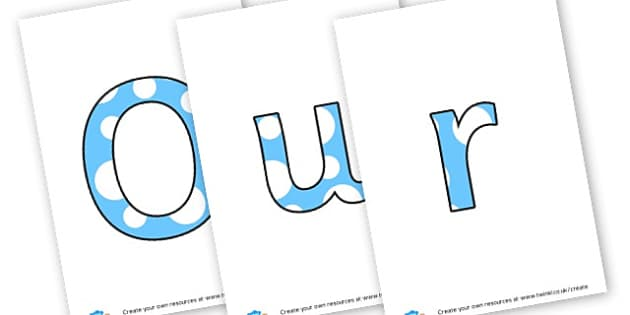 Our Learning Wall - Display Lettering - Classroom Banners Primary Resources, Banners, Classroom Signs