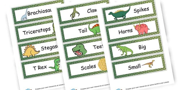 Dinosaur Words Cards - Dinosaurs Literacy Primary Resources, t-rex, writing, words,