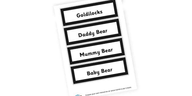 Goldilocks Word Cards - Goldilocks and the Three Bears Literacy Primary Resources -  Prim