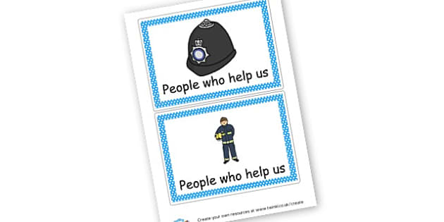 People Who Help Us Labels - People Who Help Us Primary Resources, emergency service, role play