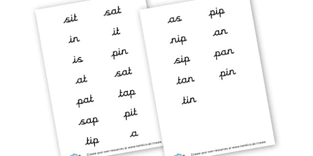 Phase 2 words - display lettering - Phase 2 Visual Aids Primary Resources, Phase One, Letters, sounds