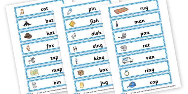 CVC Word Cards - CVC Words Literacy Primary Resources -  Primary Resources, CVC, c