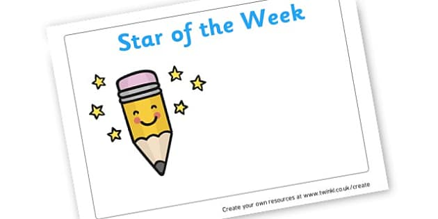 Star of the Week - Star of the Day and Week Primary Resources, Display Letters, Star