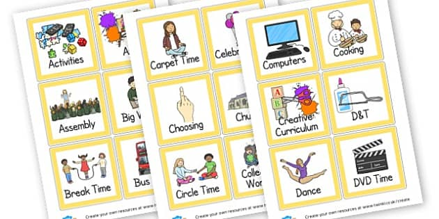 Fully Editable KS1 Visual Timetable - Daily Routine Resources, visual timetable