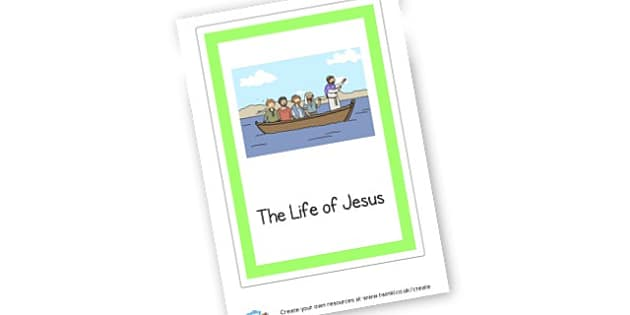 The Life of Jesus Book Cover - Christianity, Writing Frames and Worksheets,  Primary Resources,