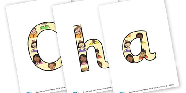 Characteristics of Learning - display lettering - Display Lettering Primary Resources, cut out, letters, display