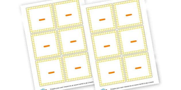 Minus Symbol Cards - Maths Area Primary Resources, maths is fun, signs, labels, areas