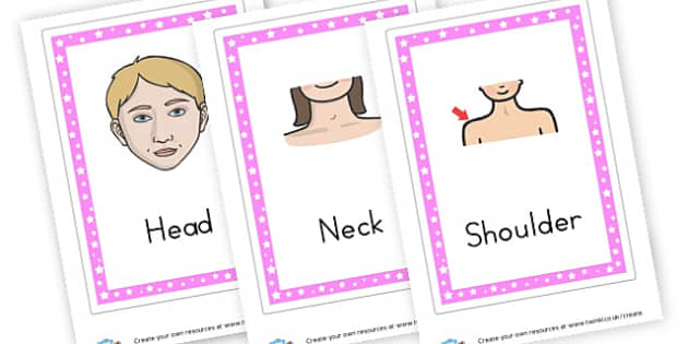 Body Parts Flashcards - My Body Keywords Primary Resources, our body, growth, health, face
