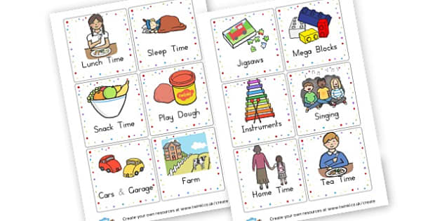 New Toddler Room Routine - Self Registration Primary Resources, register, daily, routine