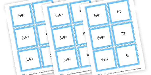 9 Times Tables Cards - Times Tables Primary Resources, multiply, times, number of, games, Times, Table, Tabe